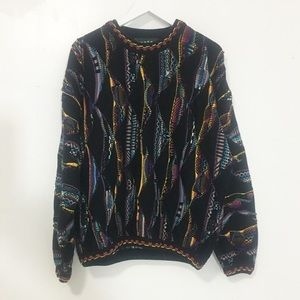 Used/ coogi vibe rainbow sweater